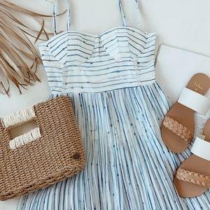 Lulus Summer in Santorini Midi Dress